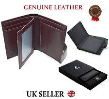 Designer Mens High Quality Real Leather Wallet Italian Veg Tan Luxury Gift Box