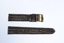 bracelet montre requin véritable noir doublé requin noir double joncs 18mm