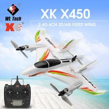 WLtoys XK X450/X420 2.4G 6CH 3D/6G RC Airplane Glider 3 Flight Modes RTF G9Y4