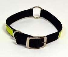 NEW Black Nylon Reflective Adjustable Dog Collar - Small