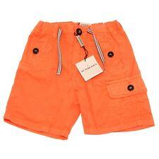 0149H bermuda bimbo arancioni BURBERRY check pantaloni trousers shorts kids