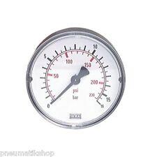 Báscula manómetro derecho Ø 40, 50 mm (rosca especial), clase 2.5 tipos dif.