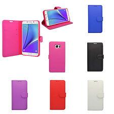 Samsung Galaxy Note 5 Tapa de Libro Funda de cuero sintético PROTECTOR PANTALLA