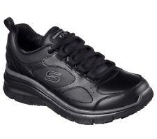 76604 Womens Skechers Work Relaxed Fit Carrolton Slip Resistant Shoe Black