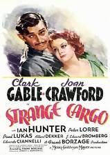 Strange cargo, vintage movie affiche publicitaire reproduction.