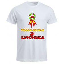f736b17a24712 t-shirt bianca uomo donna 50 anni mezzo secolo di esperienza regalo  compleanno