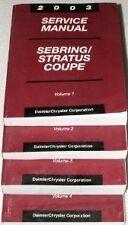 2003 CHRYSLER SEBRING COUPE Service Shop Repair Manual Set FACTORY BOOKS 03 SET