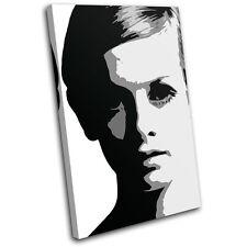 Twiggy Model Iconic Celebrities SINGLE TOILE murale ART Photo Print