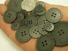10 new Black Metal Buttons Gold specks1/2, 5/8,11/16,13/16, 7/8 1 inch,1 3/8 BM1