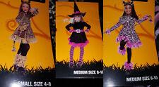 Halloween Purple & Black Leopard Costume Dress Headband sz m cheetah sm witch M