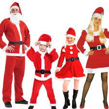 Santa Claus Costume Father Christmas Fancy Dress Budget Outfit Suit Adult Kids