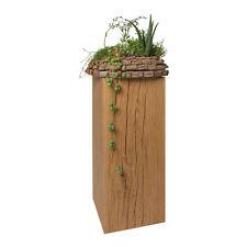 Dekosäule Holzsäule Eiche massiv 17x17cm Blumenständer Eichenklotz Säule Podest