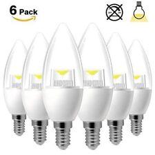 1/6/12 E14 ses 5W Bombilla Vela no LED Regulable Blanco Cálido SMD Lámpara de Escritorio