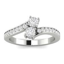 1/4ctw Diamond Two Stone Ring in 10k White Gold (L-M, I2-I3, 1/4ctw)
