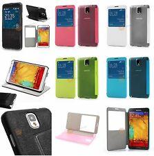 View Flip Case Leder Tasche für Samsung Galaxy Note 3 N9000, N9005, N9002