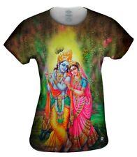 T Shirt Radha Krishna Spagetti Top Baumwolle Gr.S goa hippie Damen psy trance
