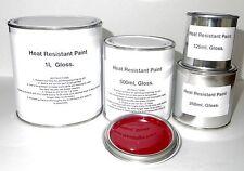 Flame Red Heat Resist Paint, Gloss Brake Caliper Engine Metal Body Steel
