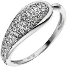 ANILLO CON 65 BLANCA Circonia forma de Gota Plata 925 Joyería para el dedo