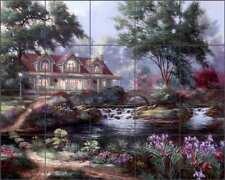 Landscape Tile Backsplash Nenad Mirkovich Pond Art Ceramic Mural NMA029