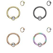 8 10mm Intim pecho piercing Klemm anillo bala captive bead rings 6