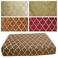 Box Shape Seat/Back Cover*Damask Chenille Chair 3D Cushion Case*Custom Size*Wk6