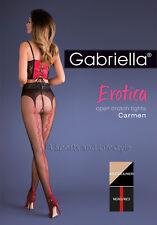 Mock suspender belt Seamed Crotchless Tights Gabriella Carmen Erotic