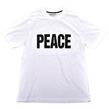 Hamnett Peace T-Shirt in White Katherine Hamnett SAVE THE WORLD