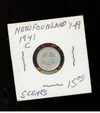 1941 C  Newfoundland Canada Five Cents coin # Y 19