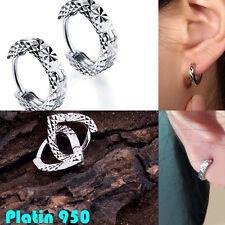 Platin ohrstecker Pt950 Platinohrstecker Klapp Creolen Ohrringe piercing Single