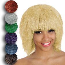 Parrucca flash lamé luccicante disco metallizzata