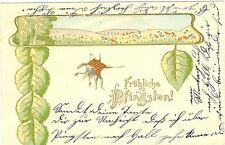 Pfingsten, Maikäfer, Prägekarte, 1904