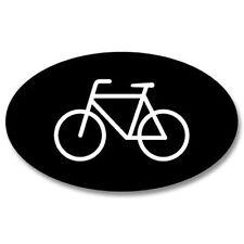 Bicycle Oval Black Car Vinyl Sticker - SELECT SIZE