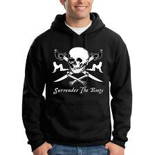 Surrender The Booty Pirate Skull Girls Swords Funny Hooded Sweatshirt Hoodie