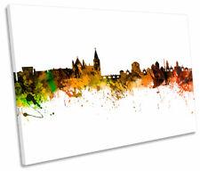 City of Dublin Skyline Modern SINGLE CANVAS WALL ART Picture Print