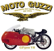 Moto Guzzi GP500 V8 Motorcycle T-Shirt. Gents, Ladies & Kids Sizes. Biker