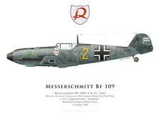 Print Messerschmitt Bf 109E-4, Helmut Wick, JG 2, Battle of Britain (by G.Marie)