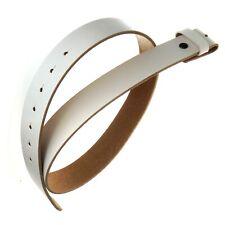 Leder-Gürtel fürs Buckle, Weiß, Volles Rindsleder, TOP Qualität, Größe S bis XL