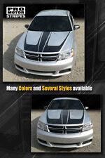 Dodge Avenger 2008-2014 Hood Accent Scallop Stripes Decals (Choose Color)