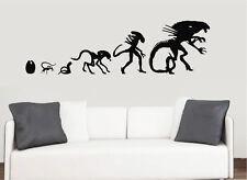 Evolution of Aliens - Wall Vinyl Stickers Movie Living Room Transfer Mural Decal