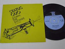 "STATUS QUO Down the Dustpipe -1970 PORTUGAL 7"" single UNIQUE PICTURE SLEEVE rare"