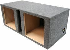 Dual 15 Kicker Car Audio Ported Square L3 L5 L7 Subwoofer Enclosure Bass Sub Box