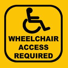 Wheelchair Access Vinyl Car/ Window  Sticker - 3 Sizes & Multiple Colours