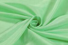 PLAIN GREEN FAUX RAW SILK 100% POLYESTER FABRIC - Craft, Bridal, Furnishing