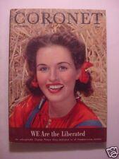 CORONET October 1945 Oct 45 BETTE DAVIS CHESTER N. NIMITZ WWII LIBERATED +++