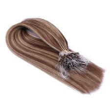 #4/24 Gesträhnt Micro-Ring / Loop Hair Extensions 100% Echthaar Haarverlängerung