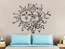 Wall Decal Sun Moon Sunshine Stars Crescent Dual Ethnic Night Symbol Decal NS821