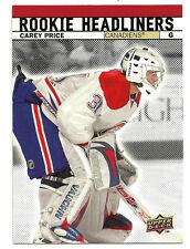 2007-08 Upper Deck Rookie Headliners Carey Price