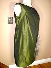 Marina Rinaldi Max Mara Olive Green Dress MR21,MR23,/12,14,16W NWT
