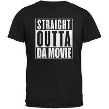 Straight Outta Da Movie Black Adult T-Shirt