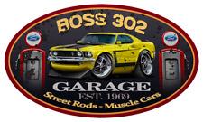 1969 Ford Boss 302 Mustang Garage Sign Wall Art Graphic Sticker